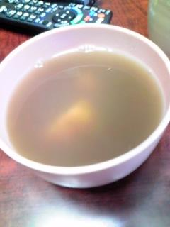 鏡開きのお汁粉〜(^▽^)餅も小豆も沈んじゃってるけど…(笑)