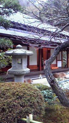 お茶室。禅のお寺だからか、風情があります。お抹茶もおかしもいただ