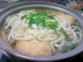 今日は鍋焼きうどん(^ω^)