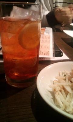2杯目 アプリコットクーラー(アプリコット+グレナデン+レモン+