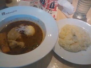 イエローカンパニー。 お昼に食べたスープカレー。今日はチキンにし