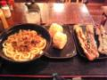 東京麺通団なう。うどん もですが、揚げ竹輪がマイウーです(^^)