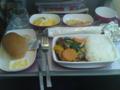 タイ国際航空の機内食 今日は「うなーぎorちきん」のチキン
