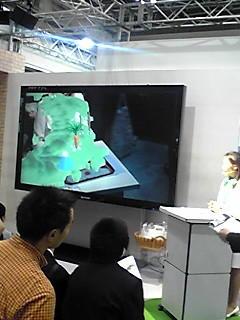 エコプロダクツ2009。セブンイレブンのブースでは,ARを使用したプ