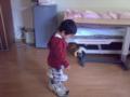 人の靴履く小人  だいぶ痛い陣痛の腰をなでたりしていると悪戯っ子