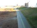 Roundaboutさんが数時間前に通ったであろう扇大橋の上からの荒川河川敷(^