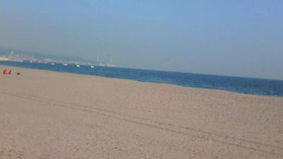 おべんと食べたとこからの景色。三浦海岸。