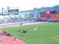女子決勝選手入場 浦和席は超満員