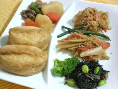 朝からチビチビお料理♪連休は良いね〜。私には珍しく『和!』