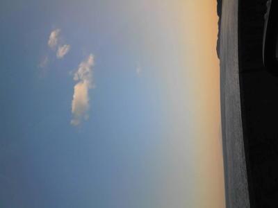 相模湾。穏やかな新春の海。