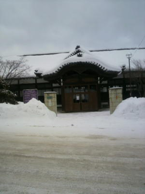 小樽能楽堂。旧小樽区公会堂です。小樽市指定の歴史的建造物となって