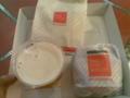ファーストキッチンにてベーコンエッグバーガーとフライドチキンとプ