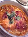 神保町新世界菜館で特製辛子ソバ。名物の少子タンメンベースに具をの