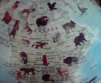 初っぱなからギリシャが発見できない。この地球儀は国が探しにくいん