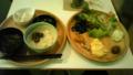 朝食は神田の『茶空楽』というカフェの自然食ブュッフェ。