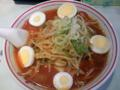 #ramen 蒙古タンメン中本@亀戸 味噌卵麺850円もっちり太麺に真っ赤な旨