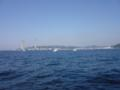 久里浜沖なう 風は冷たい