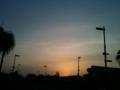 すでに、日没でした☆ワゥ。