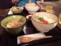 ラフテー丼と沖縄そばの定食!うまぁ〜!