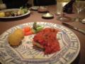 今日は広尾のアッピアでディナー。メインのオニカサゴにシャルドネを