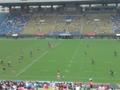 秩父宮ラグビー場なう。前座試合の女子日本代表vs女子香港代表試合中