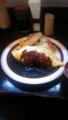 本日の一食目。オムカレーでごわす。