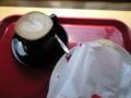 お勧めらしいセガフレードのカプチーノ&カプレーゼ。美味しいなー。
