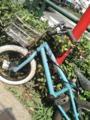あれれ?例のPITバイクとらや、、、カゴがついたぞ〜。なんか変だなあ