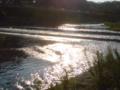 光る賀茂川。