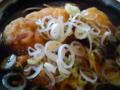 我孫子駅で唐揚げ蕎麦をたべました(´▽`)