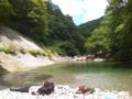 裏磐梯で昼休みうぉず。なんて美しい自然!中津川渓谷を泳いで歩いて