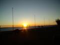 浜名湖の朝日とノアとポーラ