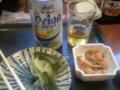 空堀のワインバー満席のため、沖縄料理。京都の日本酒イベントに誘わ