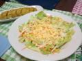 今日は、春キャベツのコールスローと卵サラダ〜☆ 山芋入り出汁巻き