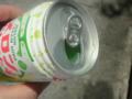 日暮里駅前にあった自販機メロンクリームソーダが70円で安かったから