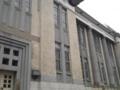 今日の近代建築(図書館) 銀行だった建物が図書館に再利用されて 今は
