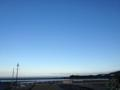 片男波上空の空模様。快晴。海水浴日和(^O^)