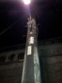 夜の雑司が谷散歩で撮った電信柱。雑司が谷選集検討委員会終え、霊園