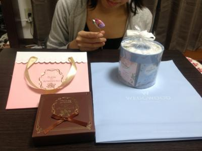 四日遅れのバレンタイーン*\(^o^)/*紅茶とチョコをプレゼントしてもらい
