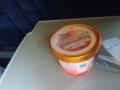 新幹線ひかりのお楽しみ。みかんアイス(^^)。 こだまでは、出会えませ