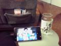 ラビートでワンカップを呑みながら、 #kddi #au の #videopass ビデオパスで