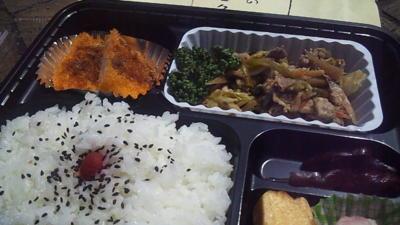 サンクリ名物ニンニクの芽入りニンニク炒め弁当!!(ただし栗ごはんナシ