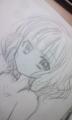 次描くヒロインちゃんはこんなかんじにしようかな。全身写メろうとし