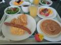 プーさんのキャラクターグリーティングで朝ご飯♪