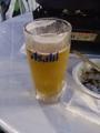 浦和伊勢丹でのビアガーデン! あの後、雨も降らず、オリオンビール