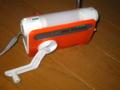 停電中(*_*) SONYの手回し充電ラジオ、ガラケーも充電できます。久々ラ
