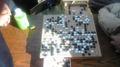 ウォーキング大阪城(秋11) えっ こちらでは囲碁ですか。平和でよろ