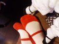 遊びに来た友人とうちの赤子の靴下が偶然オソロでワロタ。流行ってる