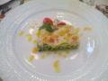 家庭的なフレンチで。前菜のマッシュポテトとサーモンのマリネのテリ