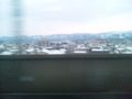 長岡@上越新幹線なう。思ったより雪がない。
